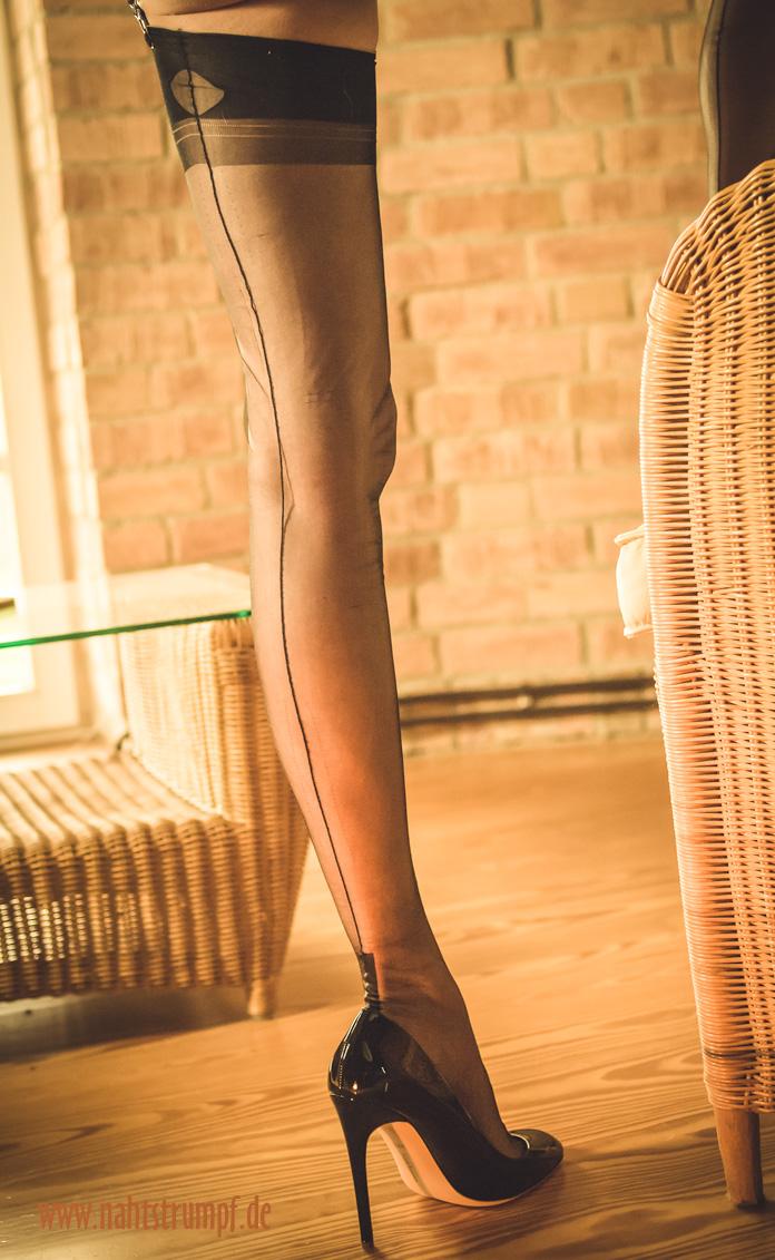 Slim stockinged leg