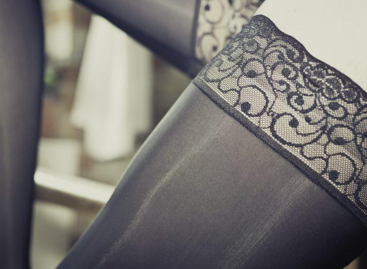 Lace top AG Nahtstrumpf handmade run resist stockings